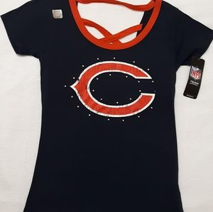 NFL Women's Med Chicago Bears Shirt w/ straps back
